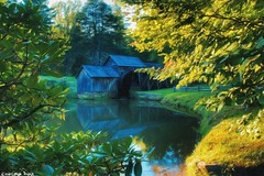 At the Mill. 🍃💚🍃 (gusdiaz) Tags: blue ridge parkway mabry mill virginia nature naturaleza foliage vegetacion reflection country summer green beautiful hermoso relaxing peaceful pacifico