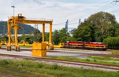 Ready for Departure (Wheelnrail) Tags: pcrc panama canal railway railroad rail road train trains locomotive emd loco f40ph intermodal ramp port freight rails kcs