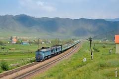 Railroad crossing Schatan ... by N.Batkhurel - Mongolia. 7/12/2016
