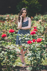 Indelible (Vincent F Tsai) Tags: portrait fashion art girl rose garden flowers outdoor beauty beautiful young pretty dreamy moody dress floral summer sunny panasonic leicadgnocticron425mmf12 lumixg5