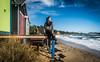 naomi170817-107 (Naomi Creek) Tags: selfportrait selfdiscovery beach mornington sunny box colours colors colourful bathing waves ocean rugged windy little house girl woman alone free carefree australia scarf platform