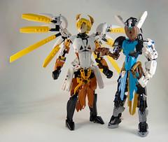 Overwatch - Mercy & Sym (0nuku) Tags: bionicle lego overwatch ow mercy angela zeigler support healer angel caduceus
