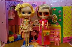 Mod Monday!!! (Primrose Princess) Tags: takara blythe doll blythedoll hollywoodblythe hollywood bl retro mod barbie vintage fruitpunch vintagebarbiefurniture