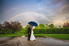 Rainbow Kiss (Robert Clifford) Tags: cliffordphotography michellenate rainbow wolfeboroinn bride groom weather wedding kiss couple married marriage weddingphotography weddingcouple weddingday weddingphoto