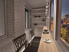 Дизайн интерьера квартиры | лоджия