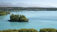 Lake Pukaki (newzild) Tags: newzealand teararoa hiker tramper trail route long distance capereinga bluff nzl lake pukaki twizel blue island landscape forest mountains