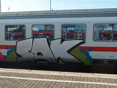 SAK (mkorsakov) Tags: dortmund hbf bahnhof mainstation graffiti piece silber silver oldschool ic intercity sak