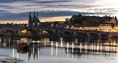 Blois, France (Sugarth/Photo) Tags: bluehour blois france loireriver church stnicolas castle bridge jacquesgabriel canon eos80d 1755mm28
