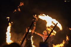 Caught in fire (technodean2000) Tags: barry island isle fire nikon d810 lightroom uk flaes flames night dance