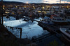 Tromsdalshavna (Bente Nordhagen) Tags: båter kveld reflection water boats evening harbor speiling