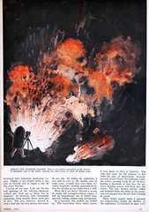 """Inside a Flaming Volcano"" by Arpad Kirner.  Page 3 of an Article in Popular Science Vol. 122, No. 4 (April 1933). (lhboudreau) Tags: pulp pulps magazine magazines magazineart art pulpart illustration illustrations drawing drawings vintagemagazine volume122number4 april1933 1933 popularscience science popularsciencemonthly popularsciencemagazine volcano makingmovies makingmoviesinavolcano fireprotection fireproof insideavolcano stromboli strombolivolcano moviemaking scientificexploration exploration insideaflamingvolcano arpadkirner scientificexplorer engineer frenchengineer article crater flaming burning fire smoke page13 text protectiveshells fireproofshells steelarmor lavabed armor sciaradelfuoco artwork painting artistsconception"