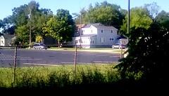 Church parking lot - HFF (Maenette1) Tags: church parkinglot fence chainlink neighborhood morning sunshine sunday menominee uppermichigan happyfencefriday flicker365 michiganfavorites