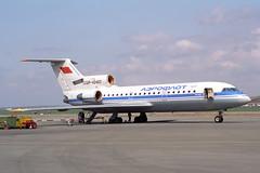 CCCP-42407 Yakovlev Yak-42D Aeroflot (pslg05896) Tags: ukk uask ustkamenogorsk oskemen cccp42407 yakovlev yak42 aeroflot