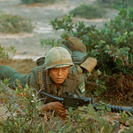 Vietnam War 1966 - A soldier from the Republic of Korea's White Horse Division 2nd Corps thumbnail