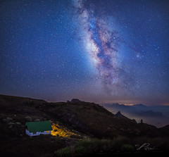 Over the mountains (Valter Patrial) Tags: sky mountains blue night light clouds stars mountain long exposure milky way milkyway red photography pollution nightscape burning lenticular starscape parquenacionaldaserradosórgãos inexplore