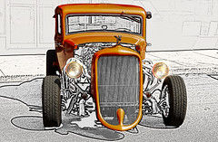 Half Picture half Drawing (Klaus Ficker --Landscape and Nature Photographer--) Tags: photoshop picture drawing oldtimer oldcar hotrod hotrat carshow kentuckyphotography klausficker canon eos5dmarkiv
