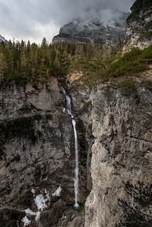 Fanes waterfall