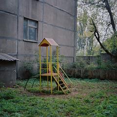 playground / kyiv, ukraine (J.K.Stevens) Tags: film playground 6x6 120mm 120 tlr twinlensreflex mamiyac220 mediumformat kodakportra400 kyiv backyard ukraine sekor outdoor