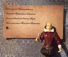 Shakespeare's Dry Spell (Sasha's Lab) Tags: william shakespeare action figure writing bard writer poet playwright