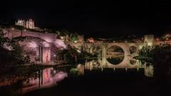 El puente (karinavera) Tags: city longexposure night photography cityscape urban ilcea7m2 toledo spain españa architecture bridge