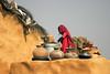 Near Jaisalmer. Rajasthan. India: (Tito Dalmau) Tags: portrait street woman village near jaisalmer rajasthan india