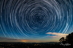 The Great Valley Star Trails With Moon Light Blue Ridge Parkway (Terry Aldhizer) Tags: great valley blue ridge parkway moon moonlight light stars night north celestial time lapse stack mountains terry aldhizer wwwterryaldhizercom