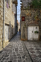 Along Went Sally Through The Alley (Alfred Grupstra) Tags: street architecture old town house cultures urbanscene alley narrow buildingexterior europe cobblestone outdoors city stonematerial history builtstructure travel village medieval montenegro perast perasto