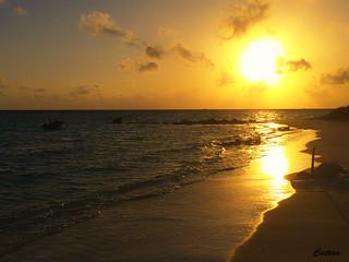 Darkness sunset  Maldives