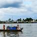 Boat family, Hau River, Can Tho, Vietnam