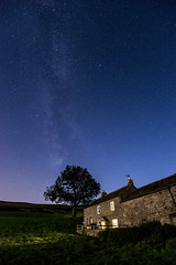 Farmhouse beneath the Milky Way (Keartona) Tags: grinton reeth northyorkshire yorkshiredales swaledale night milkyway stars sky lights beautiful nature farmhouse house remote rural hillside yorkshire england september