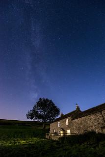 Farmhouse beneath the Milky Way