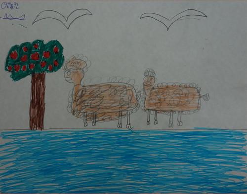 dessin d'Omar sur l'argan