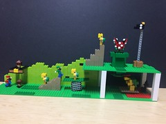 Mario Level One (totallyawesome_me) Tags: level mario super lego