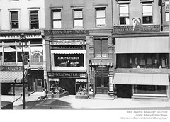 46-50 N. Pearl st  albany ny  circa 1923 (albany group archive) Tags: north pearl street golden robin tea room kinney shoes art union bookstein dentist gale human hair beauty parlor ben smith optician albany ny 1920s old vintage photos picture photo photograph history historic historical