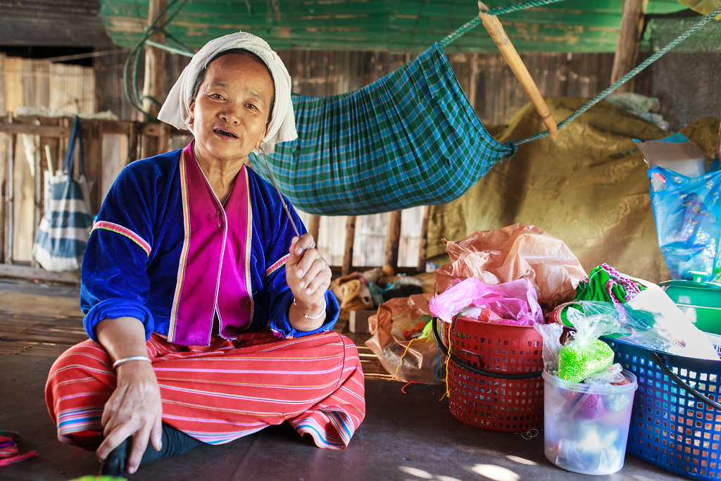 Women in Thailand village.