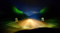 Hit the road, Jack. (Papa Razzi1) Tags: 9337 2017 218365 hittheroadjack raycharles night summer august xperiax speed forest light blue