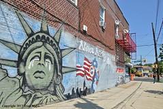 Weeping Liberty (Trish Mayo) Tags: mural paintedwalls streetart statueofliberty soundview clasonpoint bronx urbanart 911tribute 911mural