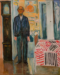 Edvard Munch, Self-Portrait: Between the Clock and the Bed, 1940-43 (Sharon Mollerus) Tags: edvardmunchbetweentheclockandthebedexhibit sfmoma sanfranciscomuseumofmodernart sanfrancisco california unitedstates us cfptig17