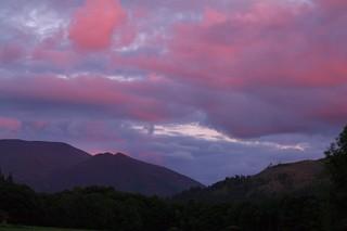 Sunset over Skiddaw