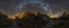 Cosmic Cathedral (Jeff Rowton (rebuilding)) Tags: nature stars southdakota custerstatepark night nightscape milkyway spires trail hiking astronomy outdoors sureal longexposure celestial cathedralspires cosmic sd