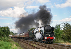 """Clagging Out Billington"" SR Merchant Navy 35018 'British India Line' (Liam60009) Tags: sr southernrailways 35018 british railway railways britishrailways britishindialine bil merchantnavy billington whalley footcrossing steam steamlocomotive steamtrain steaming mainline mainlinesteam"