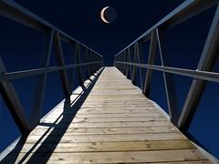 moon gate (marianna_a.) Tags: sun moon eclipse sky fence gate plank walkway railing composite mariannaarmata hff