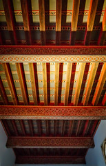 Painted beams (Tigra K) Tags: granada andalucía spain es 2015 alhambra applied architdetail ceiling color interior moorish museum ornament palace repetition wood pattern art