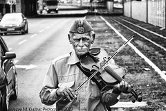 Violinist part 2 - I've Got Nothing Else To Tell You My Son! (Aleksandar M. Knezevic Photography) Tags: bw blackandwhite documentary street urban real life tough music musician violin violinist belgrad belgrade beograd serbia srbija europe