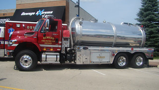IHC. water tanker on display.