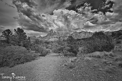 Dancing sky (tommyramonelarsen) Tags: sedona arizona usa sky blackandwhite beautiful art landscape awesome clouds mountains structures