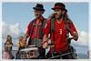 DRUM DUET (drewster123) Tags: musicians music band orchestra edinburgh portobello busker busking fringe beach drums canon 70d 24105mml