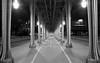 Follow the lights (Makozz) Tags: pont bir hakeim paris tour effeil tower bridge black white perspective