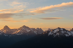 Sunset on the Cascades (csquags) Tags: baker findyourpark mountains mtbaker pnw washington sunset clouds northcascades nature hiking hike pnwlife nationalparks pacificnorthwest explorewashington mountainrange