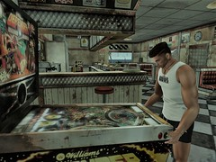 Who wants to play pinball with me? (Kenzakumi resident) Tags: steel nail necklace cross claw ear piercing grunge tank bad boy beachshorts everlast black stig nfinity maidens room